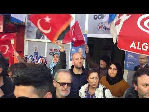 Ekrem İmamoğlu Adalar'da (3): AKP seçim bürosu önünde