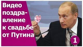 Прикольное видео поздравление  Путина на свадьбу 1. Оригинальный подарок