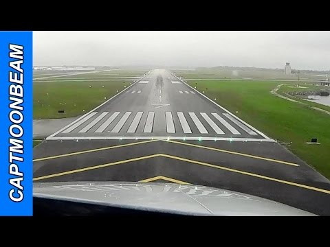 Thumbnail: NEAR MISS! Turkey Vultures on final, Cessna Citation Landing Orlando Executive Airport,