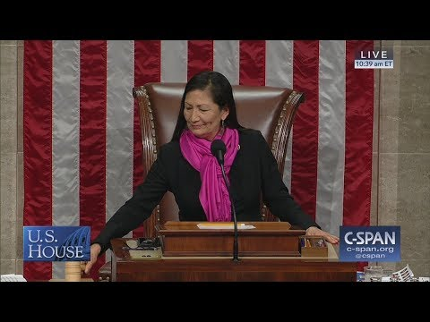 First Native American woman to chair House proceedings (C-SPAN)