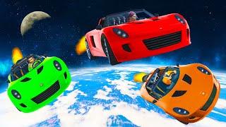 WORLD'S FURTHEST ROCKET CAR BOOST! - GTA 5 Funny Moments