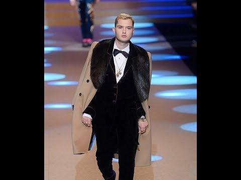 Rafferty Law storms the catwalk for Dolce and Gabbana