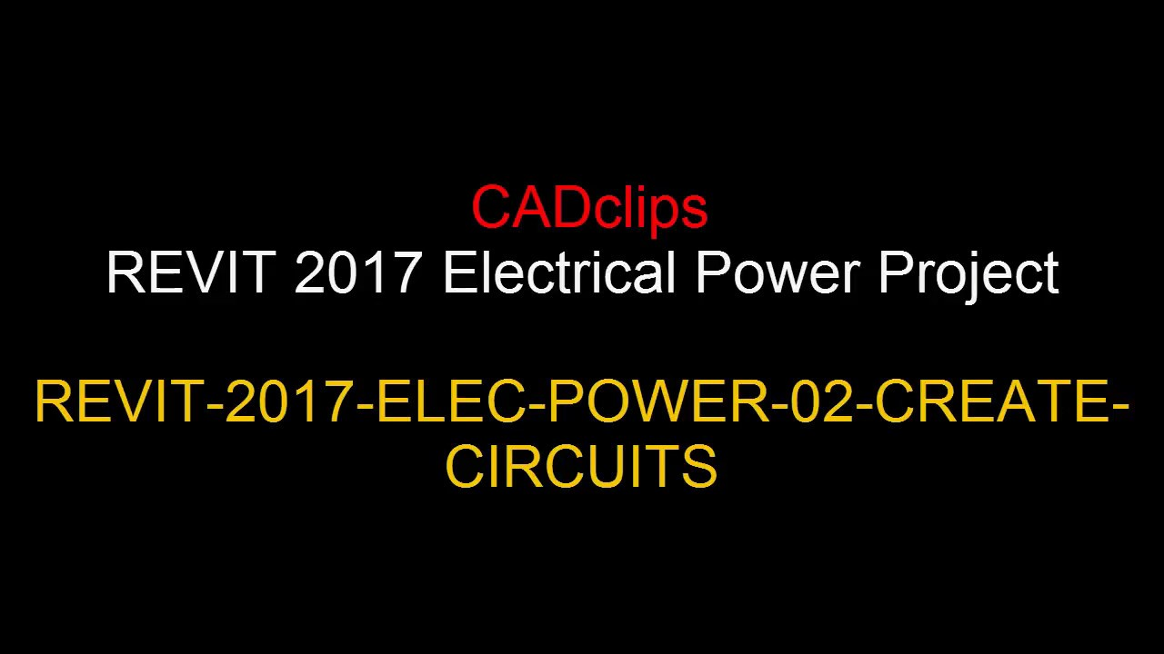 REVIT ELECTRICAL POWER 02 CREATE CIRCUITS - YouTube