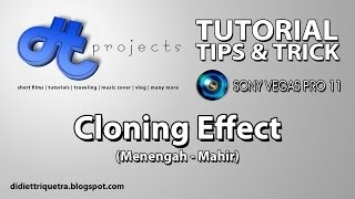 TUTORIAL #22 : Sony Vegas Pro 11 - Cloning Effect (Bahasa Indonesia)