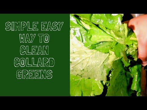 SIMPLE EASY WAY TO CLEAN COLLARD GREENS.