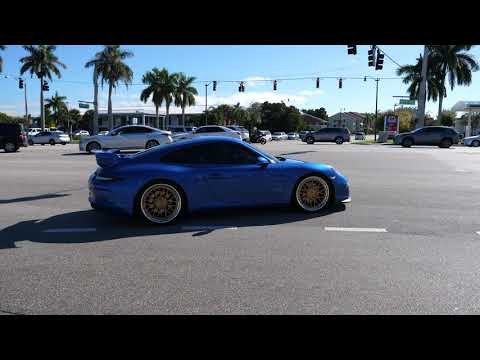 Cars Leaving LARGEST Cars and Coffee in the United States, West Palm Beach Florida Roll Out 2019