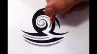Libra Tattoos - How To Draw a Simple Tribal Star Sign
