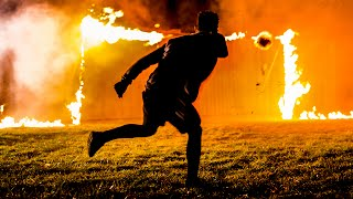 Fireball Football. Is this the hottest free kick in history?! Watch...