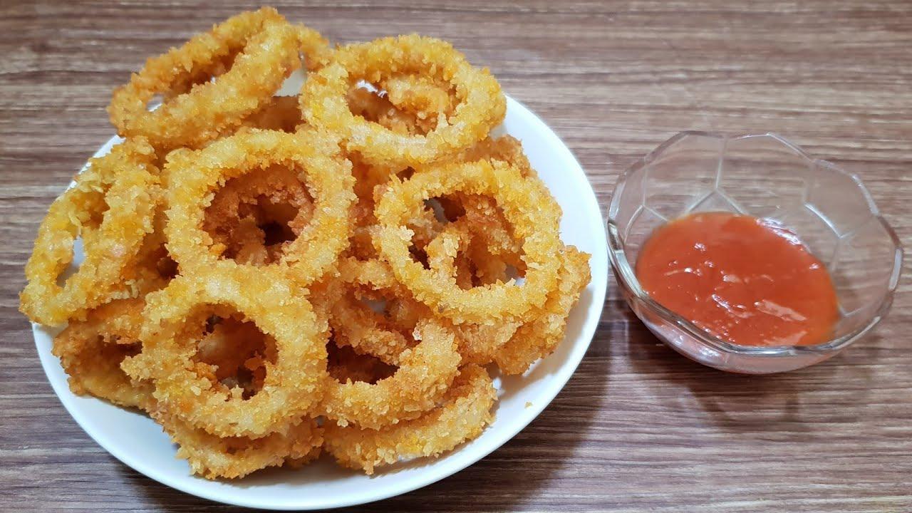 Bawang Bombay Crispy Cara Mudah Membuat Onion Rings Youtube
