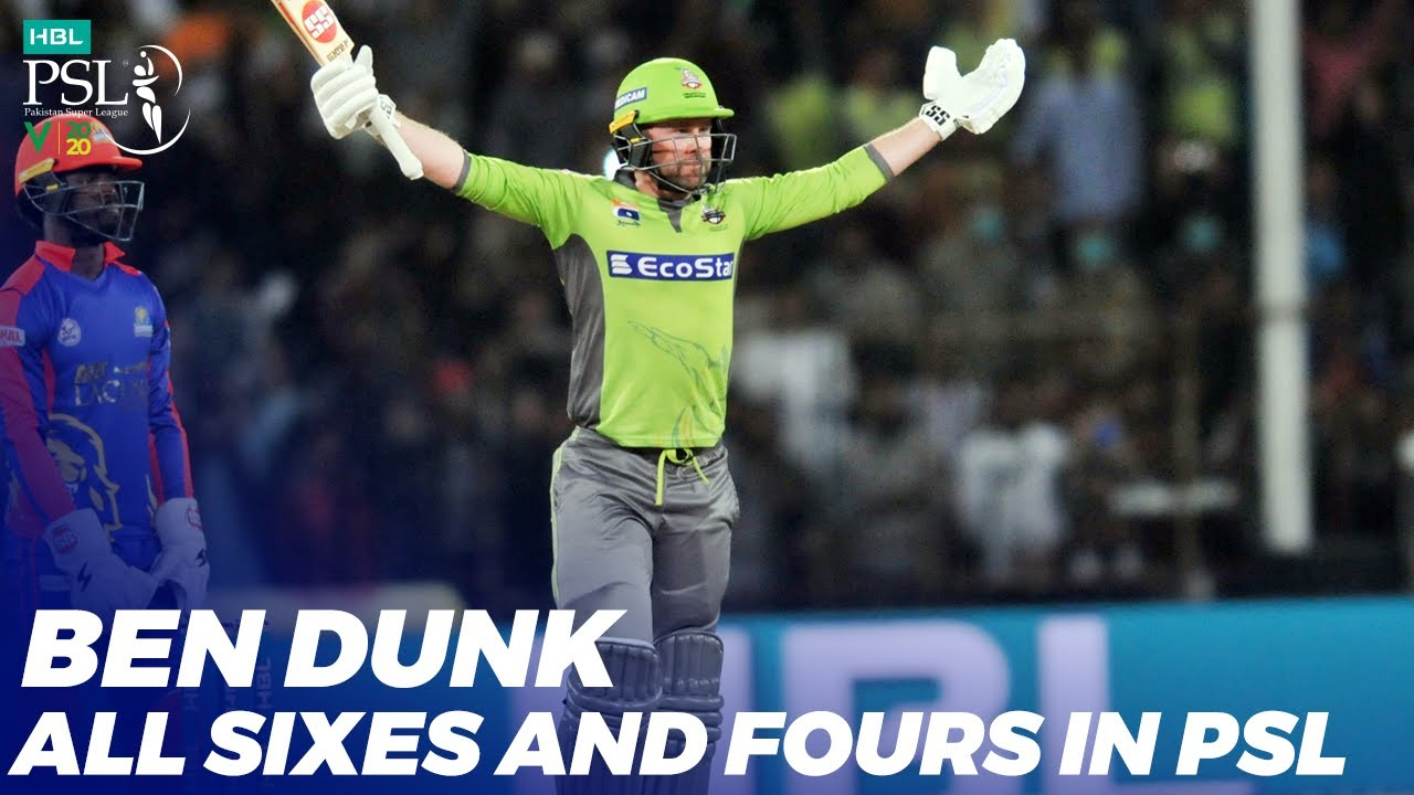 Ben Dunk All Sixes and Fours In HBL PSL 2020 | MB2T