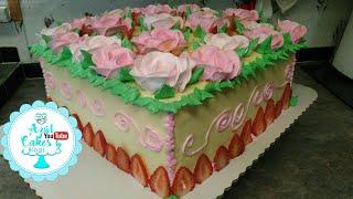 Pastel con rosas