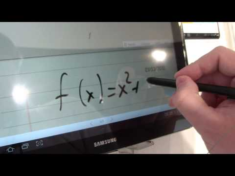 Samsung Galaxy Note 10.1 - formula match and shape recognition