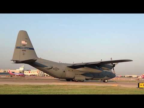 C-130's With Houston Evacuees to Dallas Love Field