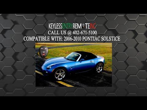 How To Replace A 2006-2010 Pontiac Solstice Key Fob Battery FCCID: KOBGT04A
