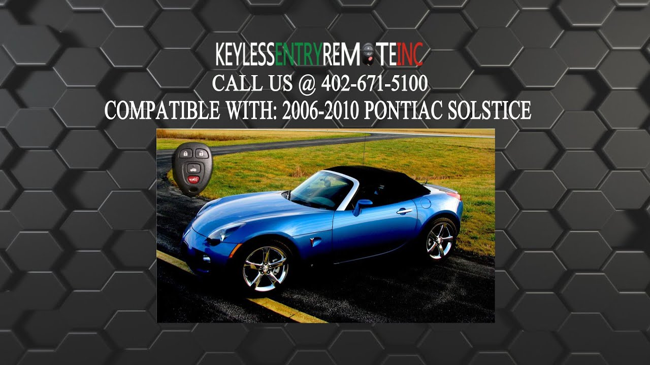 how to replace pontiac solstice key fob battery 2006 2007 2008 2009 2010 youtube