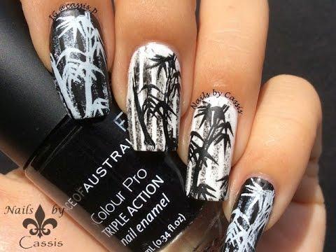 Monochrome bamboo stamping nail art youtube monochrome bamboo stamping nail art prinsesfo Gallery