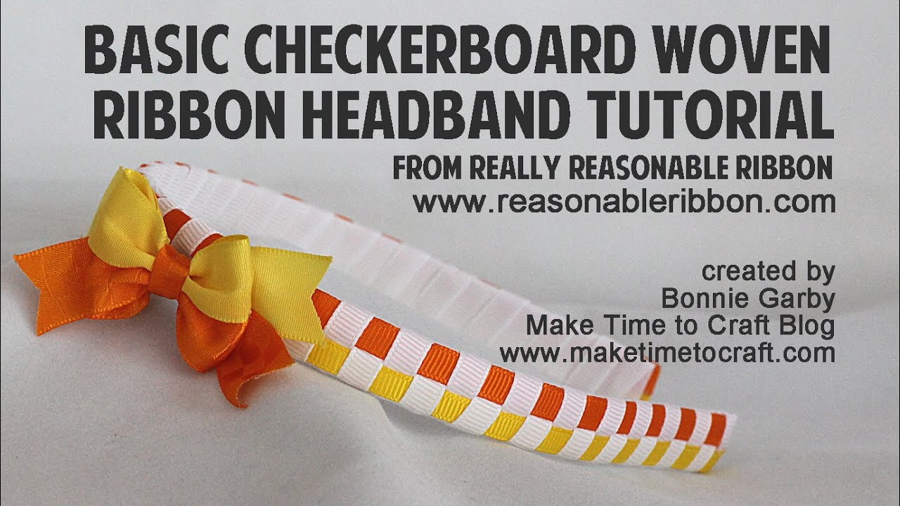 Basic Checkerboard Woven Ribbon Headband with Really Reasonable Ribbon 921b3afccea