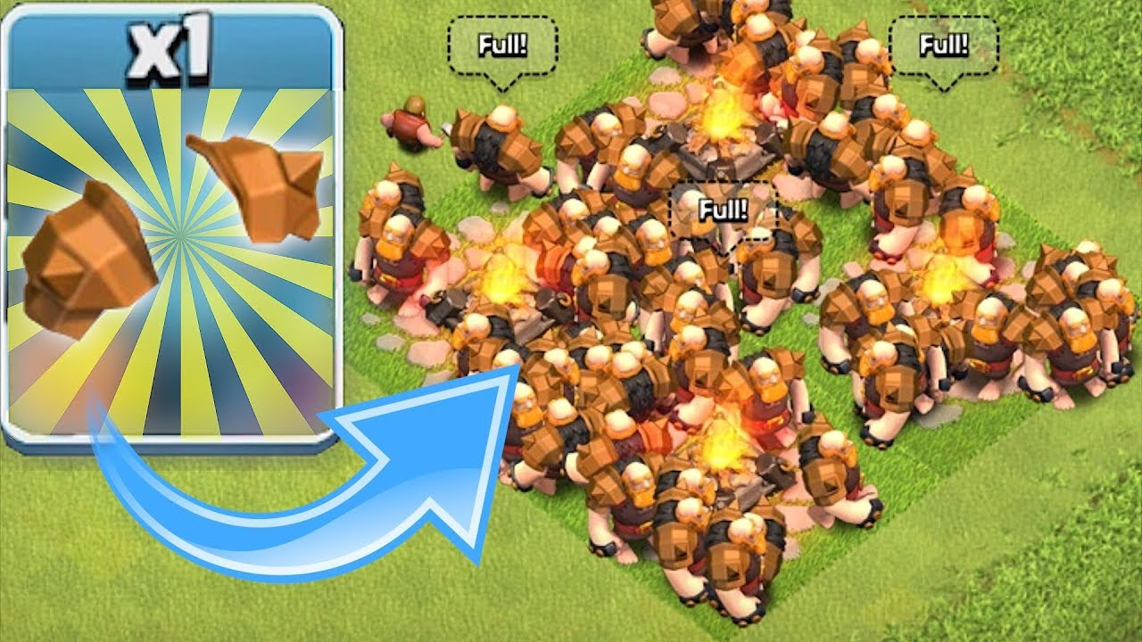 "NEW ARMOR!! GIANT TROOP LVL 9 ""Clash Of Clans"" FREE GEM ..."