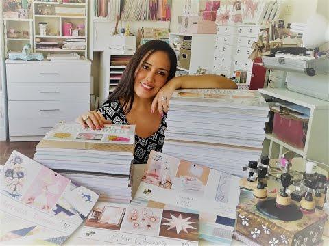 Colección de papeles para Scrapbook - 50 Blocks DCWV - Claudia Rafaella