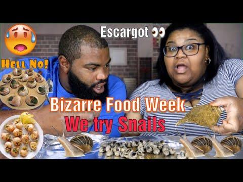 BIZARRE FOODS EATING SNAILS   VIDEO 3..... ESCARGOT