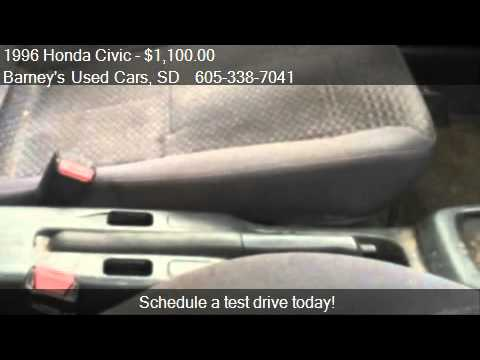 1996 honda civic dx hatchback for sale in sioux falls sd 57 youtube. Black Bedroom Furniture Sets. Home Design Ideas