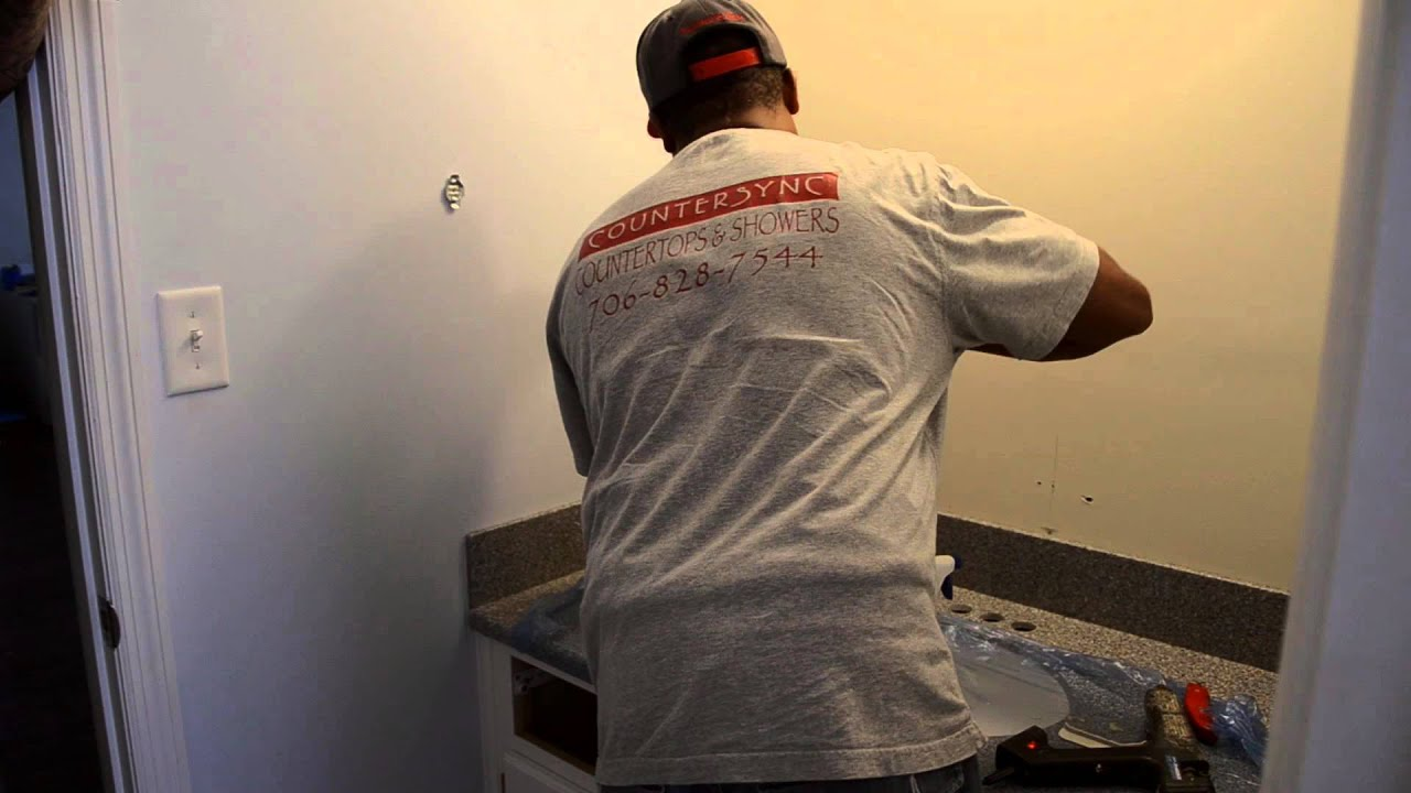 ... Surface Dupont Corian Countertop Installation - one minute - YouTube