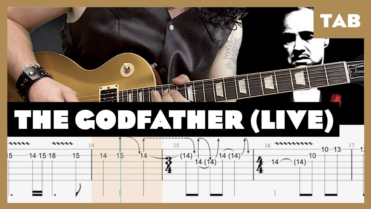 The Godfather Live in Tokyo 1992 Guns N' Roses Cover | Guitar Tab | Lesson | Tutorial