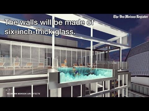 Get a look at the hanging rooftop pool planned for downtown tower