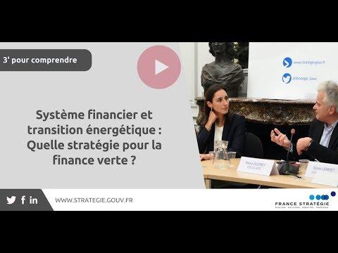 Système financier et transition énergétique : Quelle stratégie pour la finance verte ?