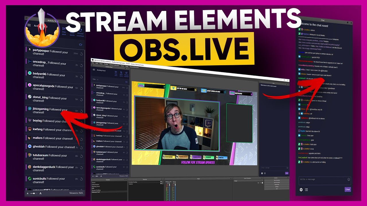 OBS Live - New Streaming Software by StreamElements