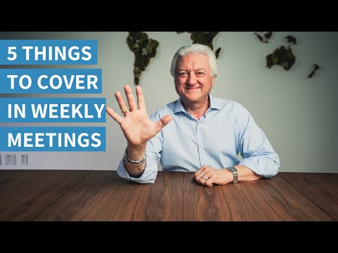5 Things to Cover in Weekly Team Meetings | How to Run a Staff Meeting Effectively