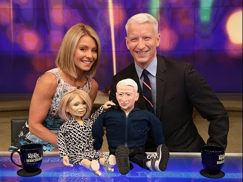 Kelly Ripa and Anderson Cooper Puppet Love