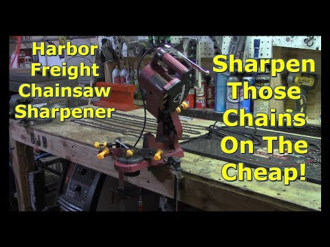 Harbor Freight Chainsaw Sharpener Initial Review by @GettinJunkDone