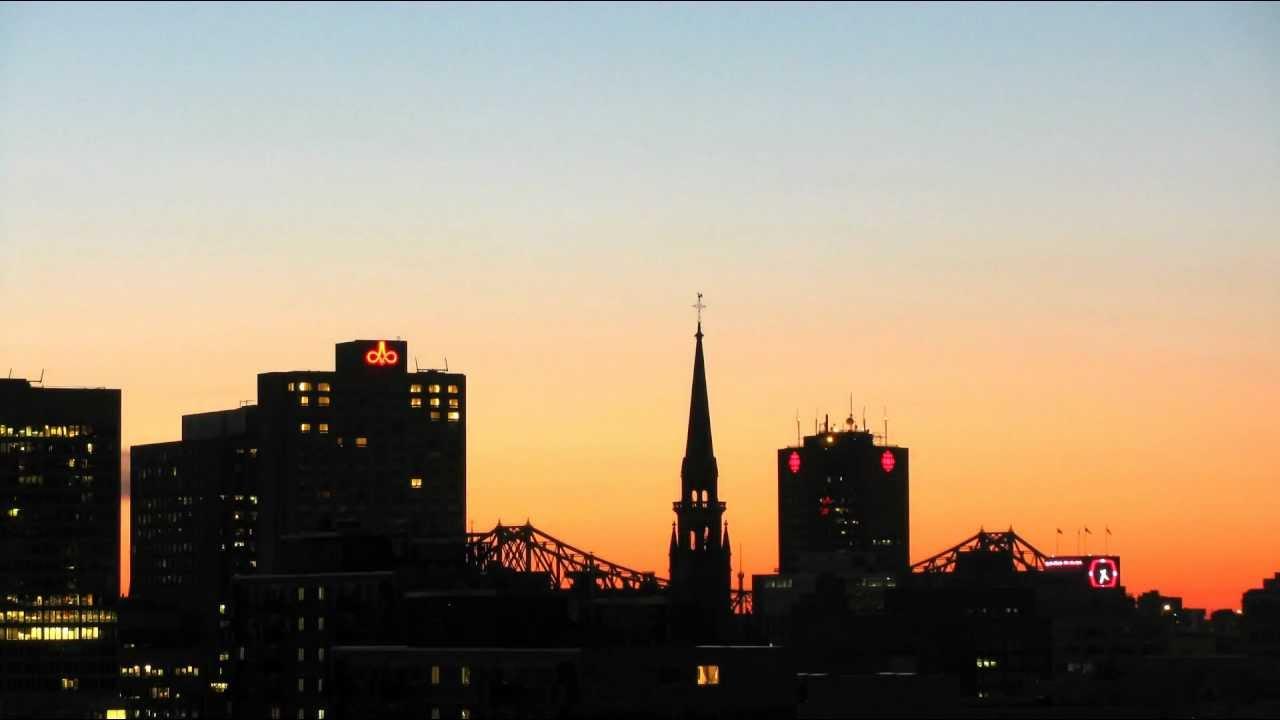 Coucher nuit et lever de soleil montr al youtube - Coucher de soleil montreal ...