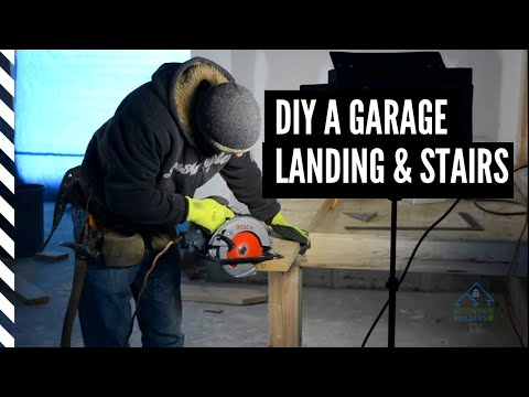 Building Landing and Stairs for a Garage