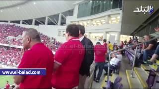بالفيديو والصور .. «أبو العينين» يتابع مباراة الأهلي وروما من ستاد هزاع بن زايد