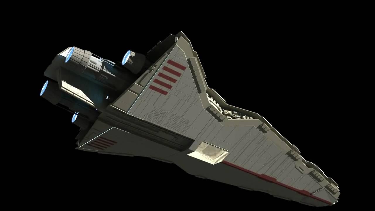 improved venator star destroyer 3d model youtube. Black Bedroom Furniture Sets. Home Design Ideas