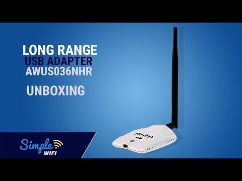 AWUS036NHR Alfa 802.11b/g/n WiFi Long Range USB Adapter