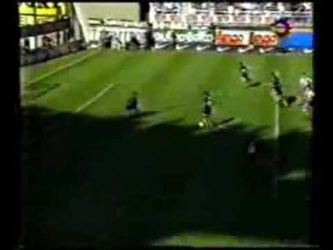 Gol de Caceres a Union (Boca 2-Union 0 10-11-96)