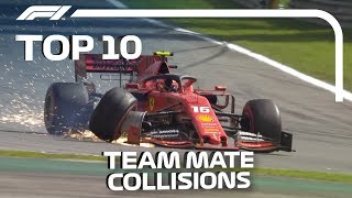 Top 10 Team Mate Collisions in F1