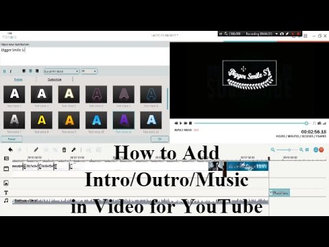 how to make intro with filmora