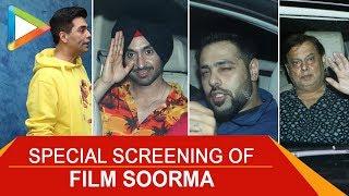 Karan Johar, David Dhawan, Badshah, Diljit Dosanjh & Others @Special Screening of 'Soorma'