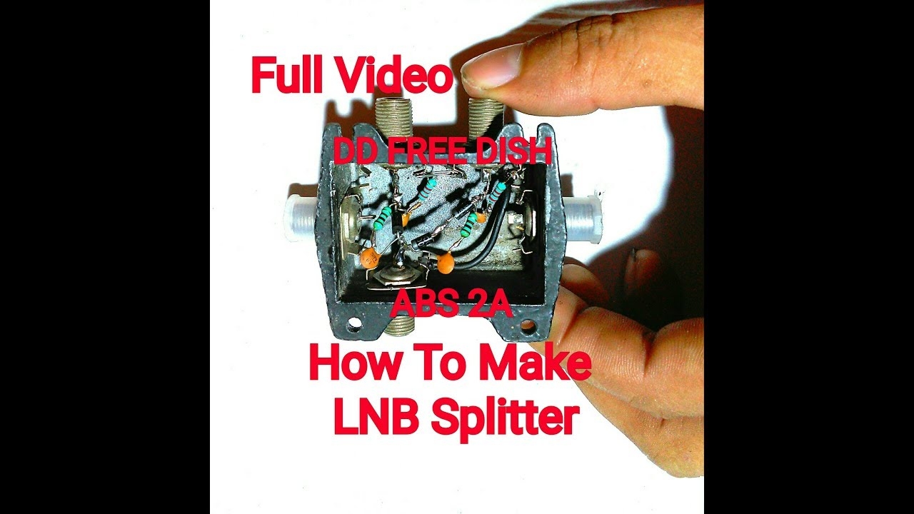 how to make 2 way lnb splitter for view free channels & pay channels - part  2 /usefull video