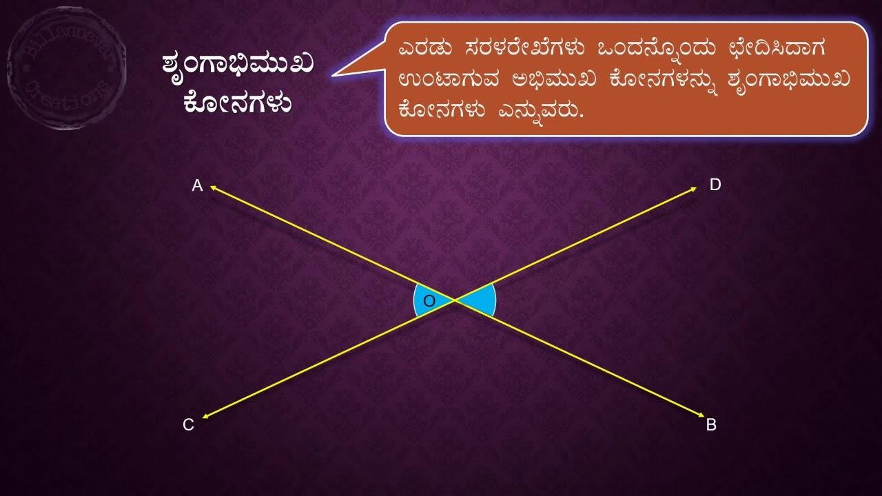 Geometry Lines Angles Rekhegalu Konagalu In Kannada Youtube
