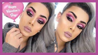 Maquillaje Para San ValentÍn - Look Rosa Delineado Glitter