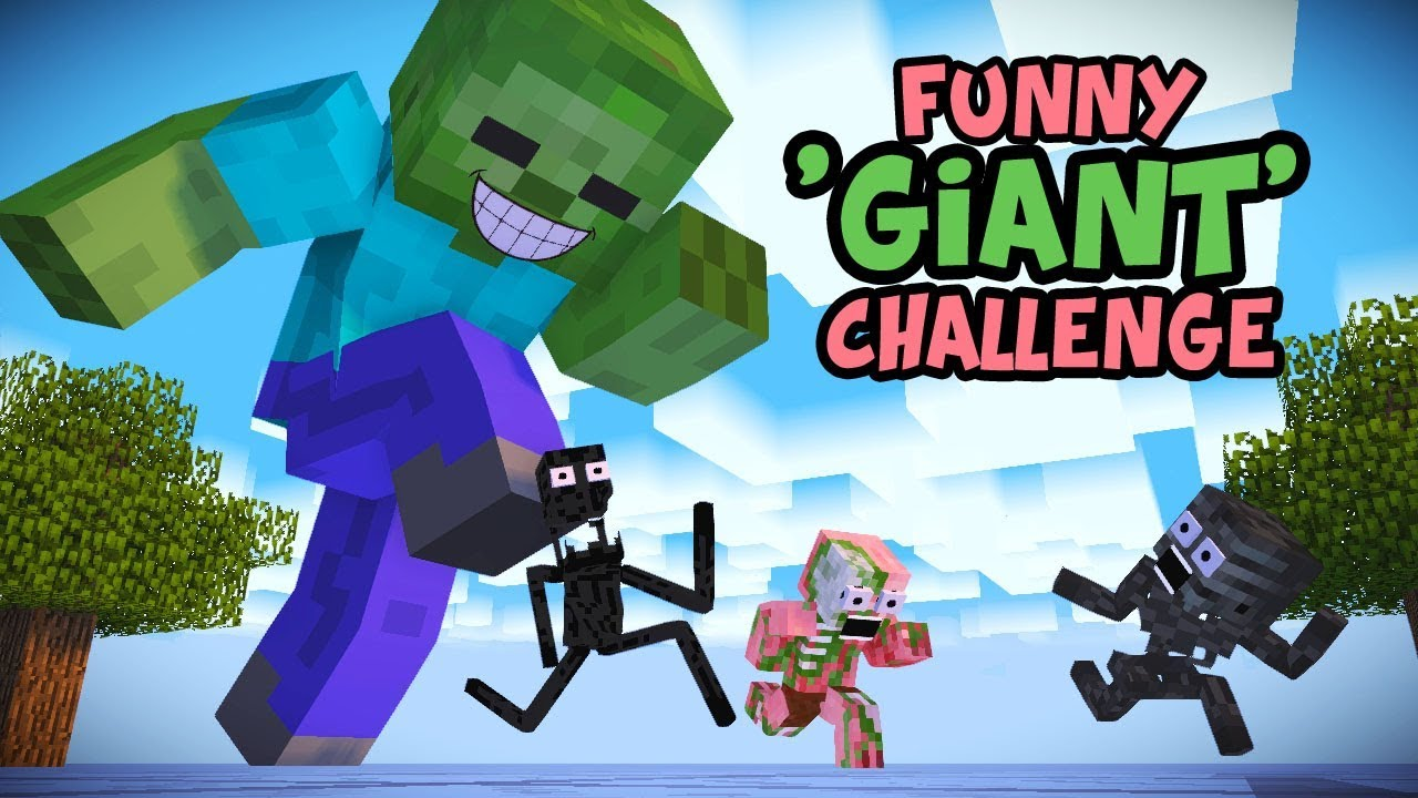 Monster School : GIANT CHALLENGE - Minecraft Animation