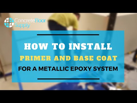 How to Install Primer and Base Coat using Epoxy Flow 100