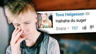 LÄSER HATKOMMENTARER PÅ