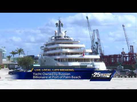 Yacht owned by Russian Billionaire at Port of Palm Beach