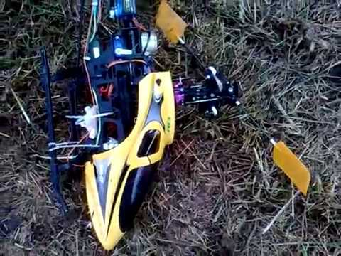 Fly Up! First  fly RC Heli, and quick crash.  Belt CP 2008